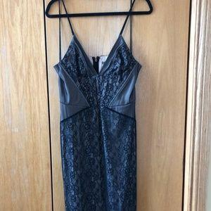 Haute Hippie Black Knit Over Thigh Cut Out Dress